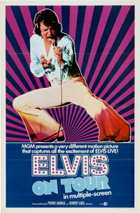 Elvis Presley One-Sheet Movie Poster from Elvis on Tour