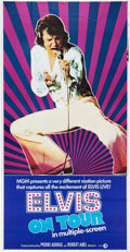 Music Memorabilia:Posters, Elvis Presley Three-Sheet Movie Poster from Elvis on Tour....