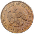 Patterns, 1836 P2C Two Cents, Judd-54, Pollock-57, Low R.6, PR64 Red and Brown PCGS....