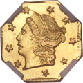 California Fractional Gold, 1871 25C Liberty Octagonal 25 Cents, BG-714, R.3, MS68 ★ NGC....