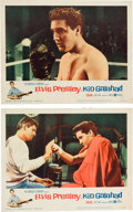 "Music Memorabilia:Posters, Elvis Presley - Two Lobby Cards from ""Kid Galahad.""... (Total: 2Items)"