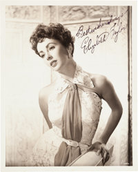 An Elizabeth Taylor Signed Black and White Photograph, Circa 1952