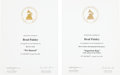 Music Memorabilia:Awards, Brad Paisley - Pair of Grammy Nomination Certificates,2000-2001.... (Total: 2 Items)