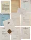 Movie/TV Memorabilia:Documents, A Collection of Documents Related to The Golden Globes,1940s-1970s....