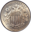 Shield Nickels, 1873 5C Closed 3 MS65 PCGS. CAC....
