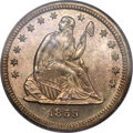 Proof Seated Quarters, 1859 25C PR64 Cameo PCGS. CAC. Briggs 2-B....