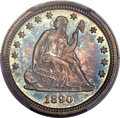 Proof Seated Quarters, 1890 25C PR67 PCGS. CAC. Briggs 3-C. ...
