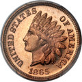 Proof Indian Cents, 1865 1C PR65 Red Cameo PCGS....