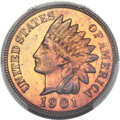 Proof Indian Cents, 1901 1C PR66 Red and Brown PCGS. CAC....