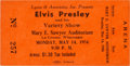 Music Memorabilia:Documents, Elvis Presley Early Concert Ticket (1956)....