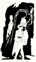 Original Comic Art:Illustrations, Frank Miller The Dark Knight Returns #4 Preliminary Study Illustration Original Art (DC, 1986).... (Total: 2 Original Art)