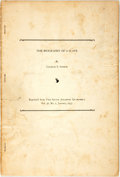 Books:Biography & Memoir, [African American History]. Charles S. Sydnor. The Biography ofa Slave. Reprinted from The South Atlantic Quarterly...