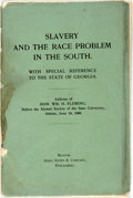 Books:Americana & American History, [Americana]. William H. Fleming. Slavery and the Race Problem inthe South. With Special Reference to the State of Georg...