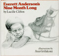 Books:Children's Books, [African American]. Lucille Clifton. Everett Anderson's NineMonth Long. New York: Holt, Rinehart and Winston, [1978...