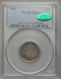 Early Dimes: , 1801 10C Fair 2 PCGS. CAC. PCGS Population (3/60). NGC Census:(3/27). Mintage: 34,640. Numismedia Wsl. Price for problem f...