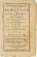 Books:Americana & American History, [Almanac]. John Nathan Hutchins. Hutchins Improved: Being anAlmanack and Ephemeris of the Motions of the Sun and Moon, ...
