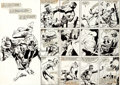 Original Comic Art:Splash Pages, Gene Day and Jack Abel Master of Kung Fu #111 Splash Page 24and 25 Original Art (Marvel, 1982).... (Total: 2 Original Art)