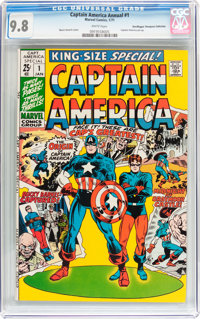 Captain America Annual #1 Don/Maggie Thompson Collection pedigree (Marvel, 1971) CGC NM/MT 9.8 White pages
