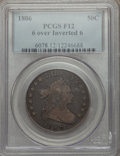 Early Half Dollars: , 1806 50C 6/INVERT 6 Fine 12 PCGS. PCGS Population (16/82). NGCCensus: (7/51). Mintage: 839,576. Numismedia Wsl. Price for ...