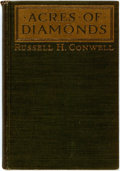 Books:Biography & Memoir, Russell H. Conwell. Acres of Diamonds. New York: Harper andBrothers, [1915]. First edition. Twelvemo. Publisher's s...