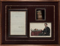 Autographs:Inventors, Thomas A. Edison Typed Document Signed... (Total: 2 Items)