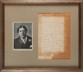 Autographs:Authors, Oscar Wilde Autograph Letter Signed....