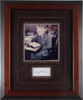 Autographs:U.S. Presidents, Harry Truman Signature....