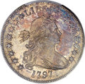 Early Half Dollars, 1797 50C O-101a, R.5, MS65+ PCGS Secure. CAC. Amato-400....
