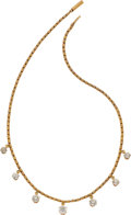 Estate Jewelry:Necklace, DIAMOND, GOLD NECKLACE. ...