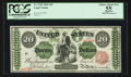 Large Size:Legal Tender Notes, Fr. 126b $20 1863 Legal Tender PCGS Apparent Choice About New 55.....