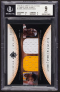 """Basketball Cards:Singles (1980-Now), 2005/06 Upper Deck Ultimate Collection """"Ultimate Dual Jersey"""" Jordan/Johnson BGS Mint 9. ..."""