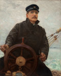 Paintings, ROBERT WILLIAM VONNOH (American, 1858-1933). At the Helm (Edward Dale Toland), circa 1926. Oil on canvas. 41-1/2 x 33-1/...