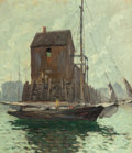 Fine Art - Painting, American:Modern  (1900 1949)  , JONAS LIE (Norwegian, 1880-1940). Low Tide, 1911. Oil oncanvas. 30-1/4 x 26 inches (76.8 x 66.0 cm). Signed and dated l...