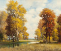 Fine Art - Painting, American:Contemporary   (1950 to present)  , ROBERT WILLIAM WOOD (American, 1889-1979). Autumn Colors.Oil on canvas. 25 x 30 inches (63.5 x 76.2 cm). Signed lower r...