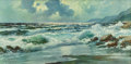 Fine Art - Painting, American:Contemporary   (1950 to present)  , ALEXANDER DZIGURSKI (Russian/American, 1911-1995). CrashingWaves. Oil on canvas. 24 x 48 inches (61.0 x 121.9 cm). Sign...