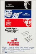 """Movie Posters:Thriller, The Manchurian Candidate (United Artists, R-1988). Autographed One Sheet (27"""" X 41""""). Thriller.. ..."""