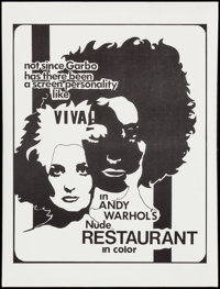 """The Nude Restaurant (Andy Warhol Films, 1967). Special Poster (19"""" X 25""""). Exploitation"""