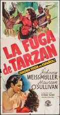 "Movie Posters:Adventure, Tarzan Escapes (MGM, 1936). Spanish Language Three Sheet (41"" X79""). Adventure.. ..."