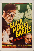"Movie Posters:Exploitation, Black Market Babies (Monogram, 1945). One Sheet (27"" X 41"").Exploitation.. ..."