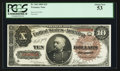Large Size:Treasury Notes, Fr. 366 $10 1890 Treasury Note PCGS About New 53.. ...