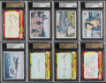 "Non-Sport Cards:Lots, 2013 Famous Fabrics Ink ""Horrors of War"" 1/1 Cut Signature Cards and Limited Base Cards (8) With Nixon. ..."