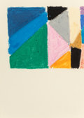 Fine Art - Work on Paper:Drawing, DOROTHY ANTOINETTE (TONI) LA SELLE (American, 1901-2002).Untitled, 1960. Cray-Pas on paper. 9-3/4 x 6-3/4 inches(24.8 ...