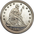 Proof Seated Quarters, 1867 25C PR65 Cameo PCGS. CAC....