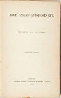 Books:Biography & Memoir, [Louis Spohr]. Louis Spohr's Autobiography. London: Longman,Green, et al., 1865. Copyright edition. Octavo. Publish...