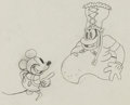 Animation Art:Production Drawing, Trader Mickey Mickey and Tribal Chief Production DrawingAnimation Art (Walt Disney, 1932)....