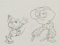 Animation Art:Production Drawing, Camping Out Minnie Mouse and Clarabelle Cow ProductionDrawing Animation Art (Walt Disney, 1934)....