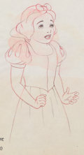 Animation Art:Production Drawing, Snow White and the Seven Dwarfs Production Drawing AnimationArt (Walt Disney, 1937)....