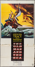 """Movie Posters:Adventure, The Old Man and the Sea (Warner Brothers, 1958). Three Sheet (41"""" X78""""). Adventure.. ..."""
