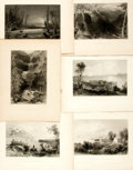 Books:Natural History Books & Prints, Nathaniel Parker Willis. Six Engraved Plates from American Scenery; or, Land, Lake, and River. From drawings by ...