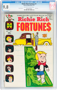Richie Rich Fortunes #1 (Harvey, 1971) CGC NM/MT 9.8 Off-white to white pages